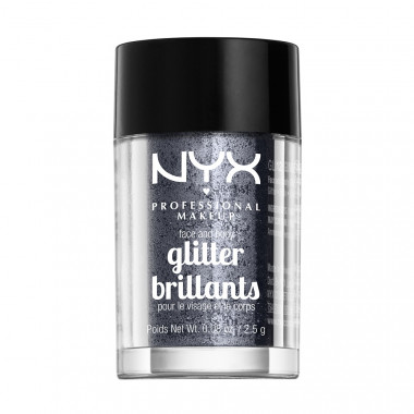 FACE & BODY GLITTER - GUNMETAL